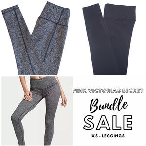 Pink Victoria Secret leggings bundle gray leggings